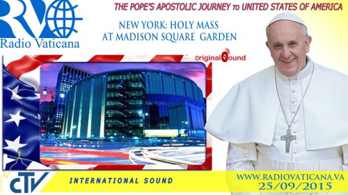 Papa Francesco presiede la Santa Messa nel Madison Square Garden a New York