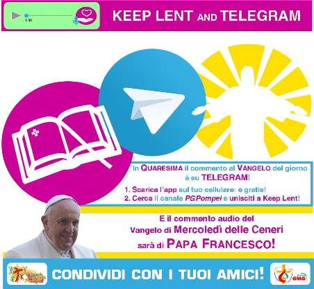 KeepLent: il Vangelo quaresimale su Telegram